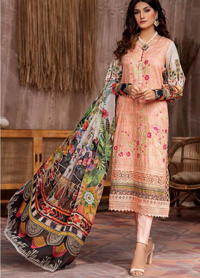 Jahanara Embroidered Lawn Suits Unstitched 3 Piece JN21L 07 - Summer Collection