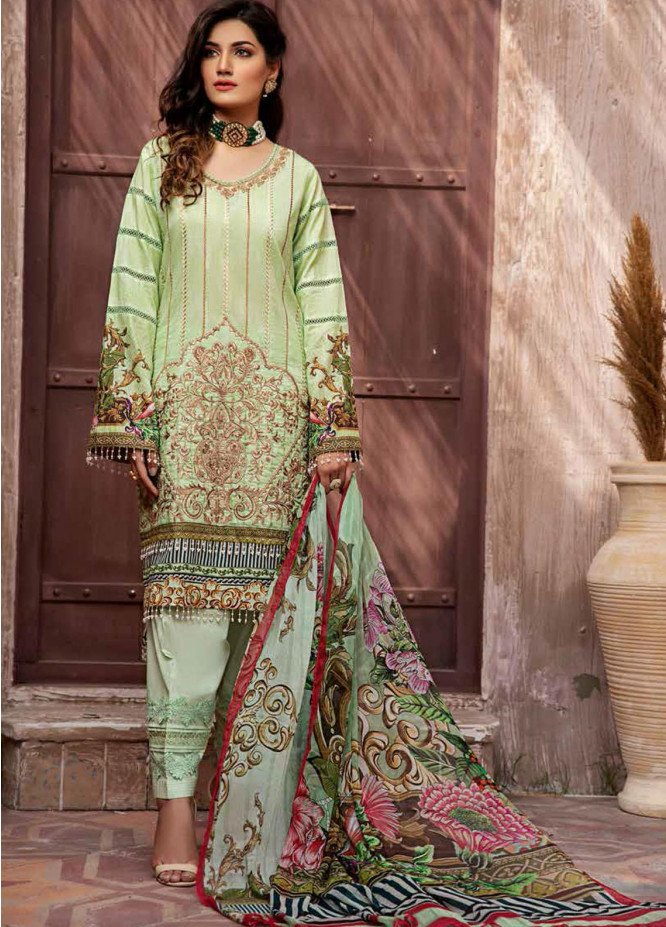 Jahanara Embroidered Lawn Suits Unstitched 3 Piece JN21L 08 - Summer Collection