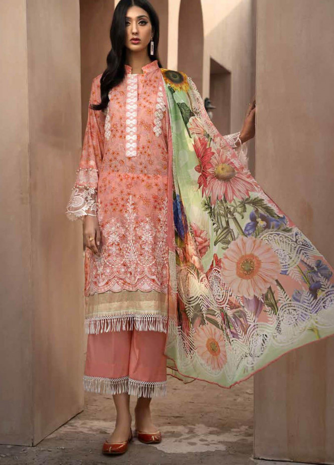 Jahanara Embroidered Lawn Suits Unstitched 3 Piece JN21SS 06 - Luxury Collection