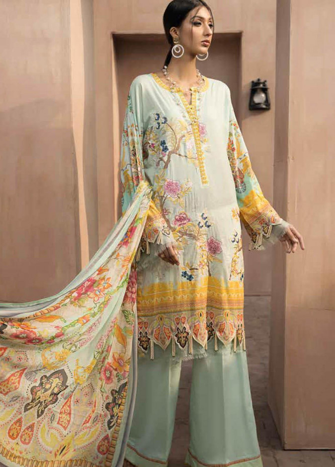 Jahanara Embroidered Lawn Suits Unstitched 3 Piece JN21SS 09 - Luxury Collection