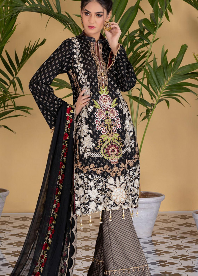 Jaipur By ZS Textiles Embroidered Jacquard Unstitched 3 Piece Suit ZS21J 07 - Luxury Collection