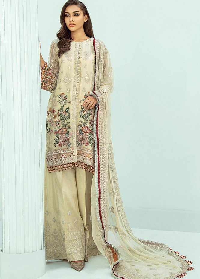 Janaan by Xenia Formals Embroidered Chiffon Unstitched 3 Piece Suit XE20J 04 AEZEEN - Luxury Collection
