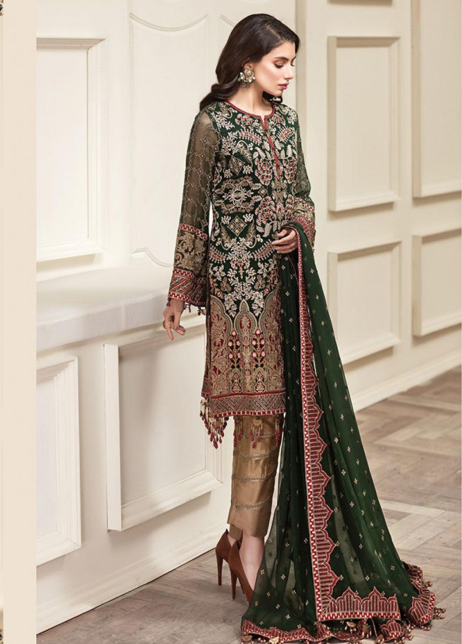 Jazmin Embroidered Chiffon Unstitched 3 Piece Suit JZ20AL 1 - Luxury Collection