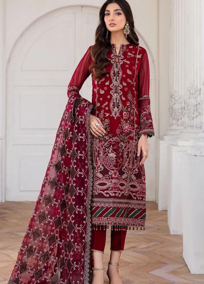 Mahpare by Jazmin Embroidered Chiffon Unstitched 3 Piece Suit JZ20M 06 Arash - Luxury Collection