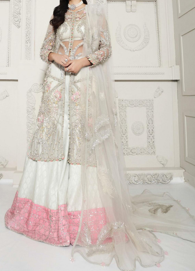 Anaya By Kiran Chaudhry Embroidered Tulle Net Stitched 3 Piece Suit AKC20B 06 Elise - Bridal Wear Collection