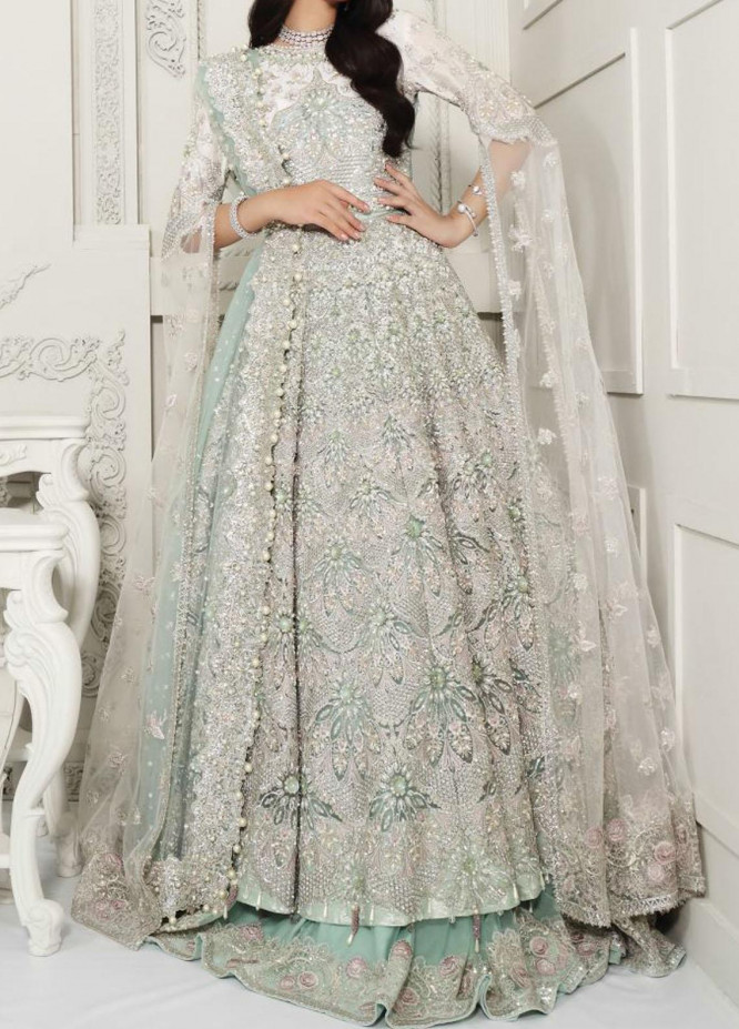 Anaya By Kiran Chaudhry Embroidered Tulle Stitched 3 Piece Suit AKC20B 09 Delphine - Bridal Wear Collection