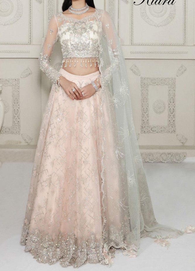 Anaya By Kiran Chaudhry Embroidered Tulle Net Stitched 3 Piece Suit AKC20B 10 Kiara - Bridal Wear Collection