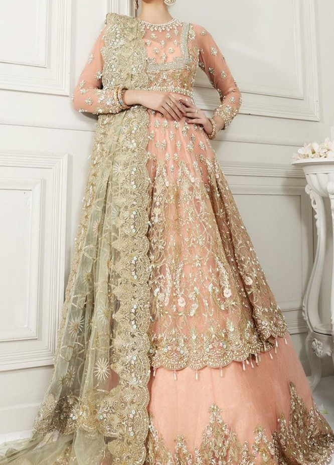 Anaya By Kiran Chaudhry Embroidered Tulle Net Stitched 3 Piece Suit AKC20B 07 Irene - Bridal Wear Collection