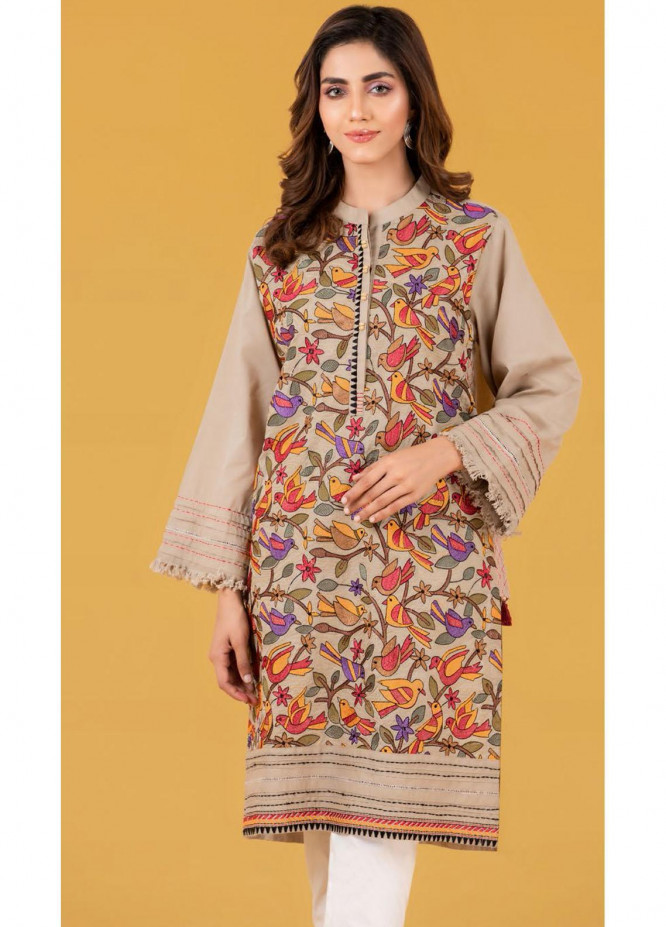 Gul Ahmed Luxury Pret Embroidered Cambric Kurties GA21K WGK-CMS-DE-146