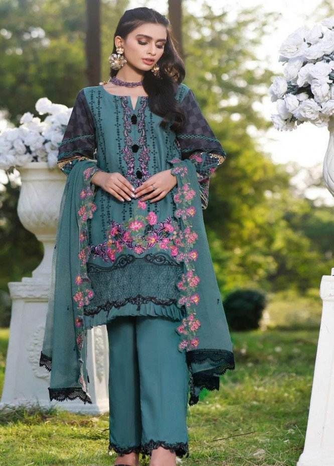 Kahf Premium Embroidered Lawn Suits Unstitched 3 Piece KHF21F 07 - Summer Collection