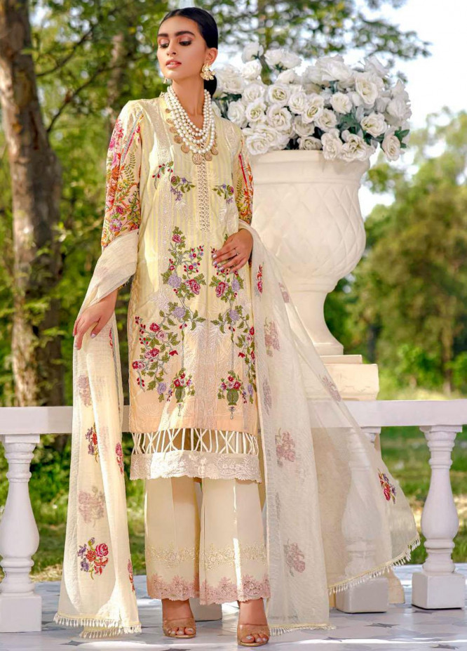 Kahf Premium Embroidered Lawn Suits Unstitched 3 Piece KHF21F 08 - Summer Collection