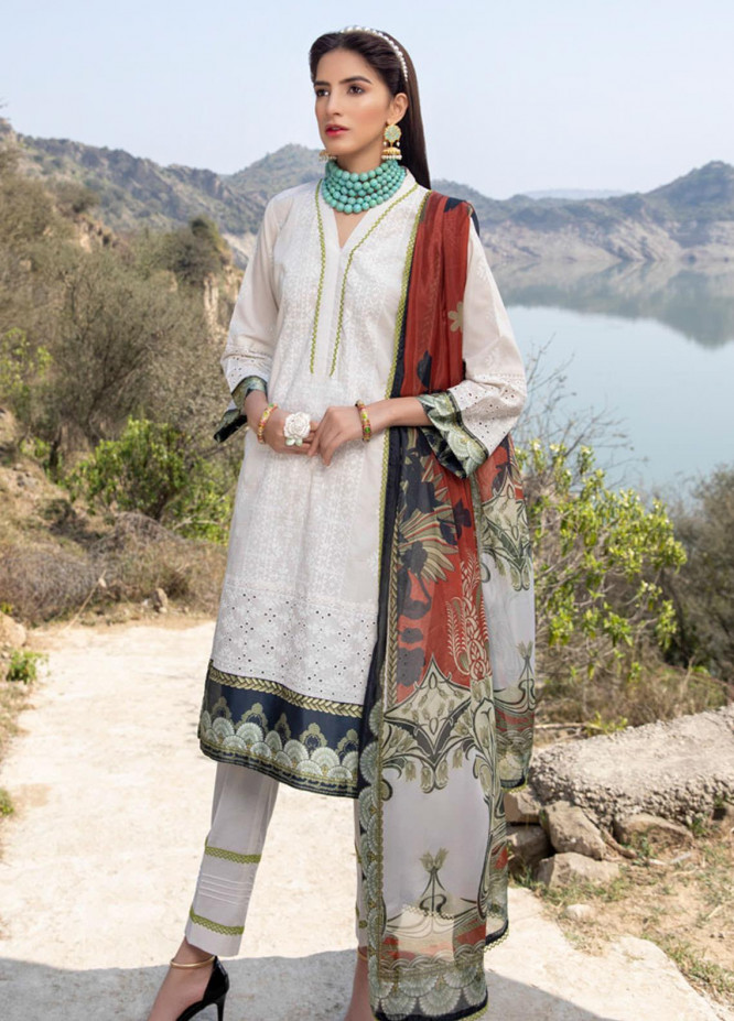 Kalyan by ZS Textiles Embroidered Chikankari Suits Unstitched 3 Piece ZS21KC-3 ZS-02 - Summer Collection
