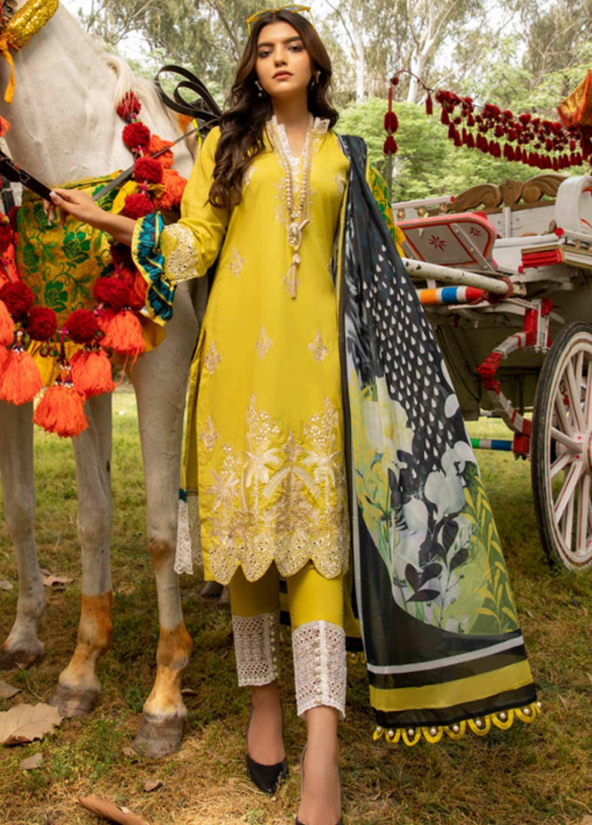 Kalyan by ZS Textiles Embroidered Chikankari Suits Unstitched 3 Piece ZS21KC-4 ZS-03 - Summer Collection