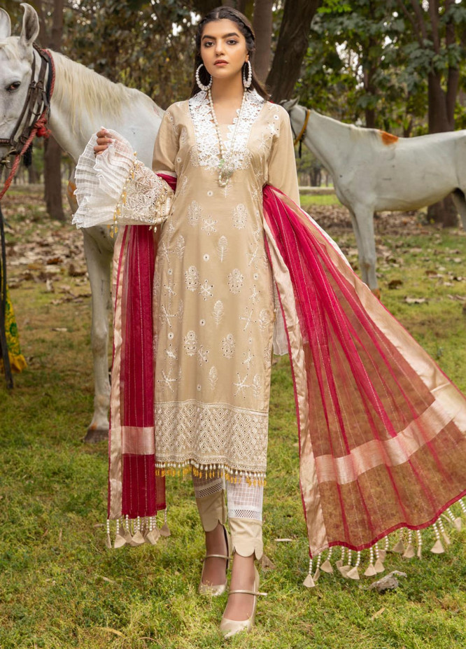 Kalyan by ZS Textiles Embroidered Chikankari Suits Unstitched 3 Piece ZS21KC-4 ZS-07 - Summer Collection