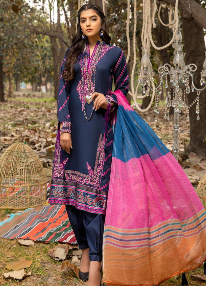 Kalyan by ZS Textiles Embroidered Chikankari Suits Unstitched 3 Piece ZS21KC-4 ZS-08 - Summer Collection