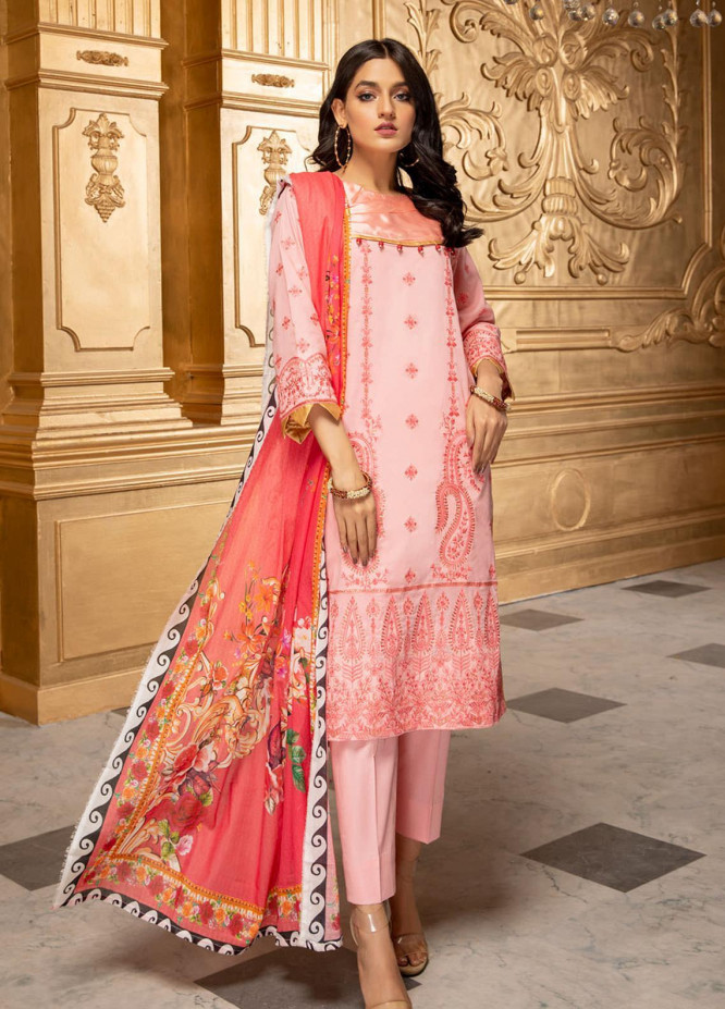 Kalyan by ZS Textiles Embroidered Chikankari Suits Unstitched 3 Piece ZS21KC-5 D-07 - Summer Collection