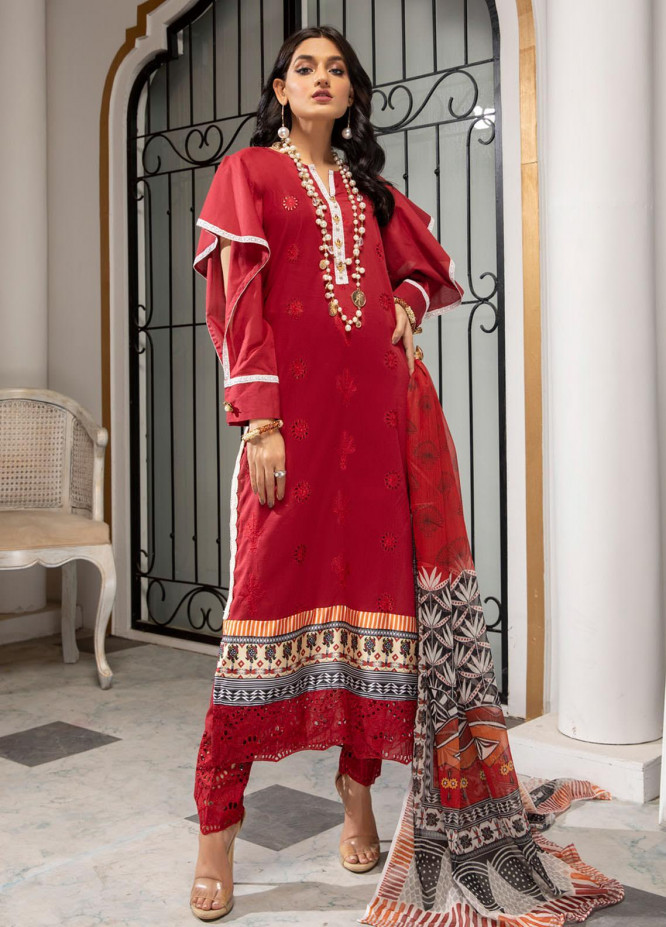 Kalyan by ZS Textiles Embroidered Chikankari Suits Unstitched 3 Piece ZS21KC-5 D-08 - Summer Collection