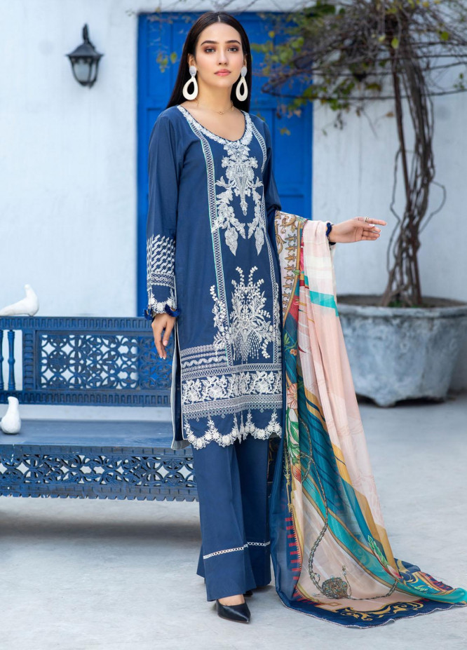 Kalyan by ZS Textiles Embroidered Chikankari Unstitched 3 Piece Suit ZS21-KC2 11 - Summer Collection