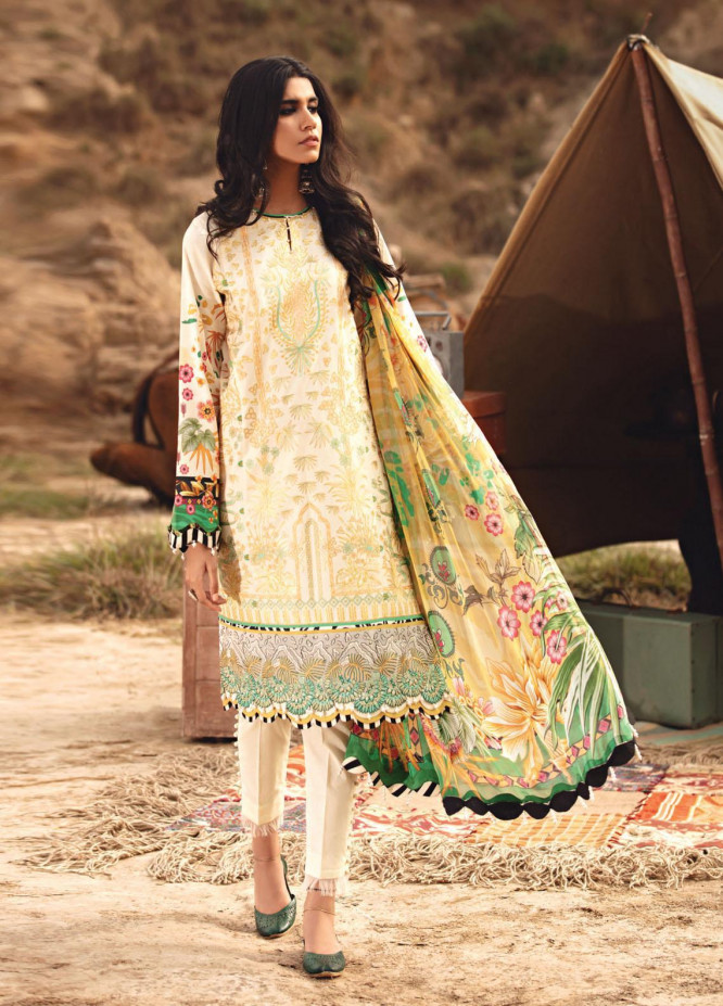 Karvaan by Jazmin Embroidered Lawn Suits Unstitched 3 Piece JZ21K 05 Samar - Luxury Collection