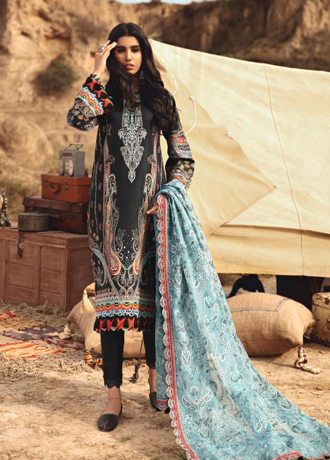 Karvaan by Jazmin Embroidered Lawn Suits Unstitched 3 Piece JZ21K 11 Dasht - Luxury Collection