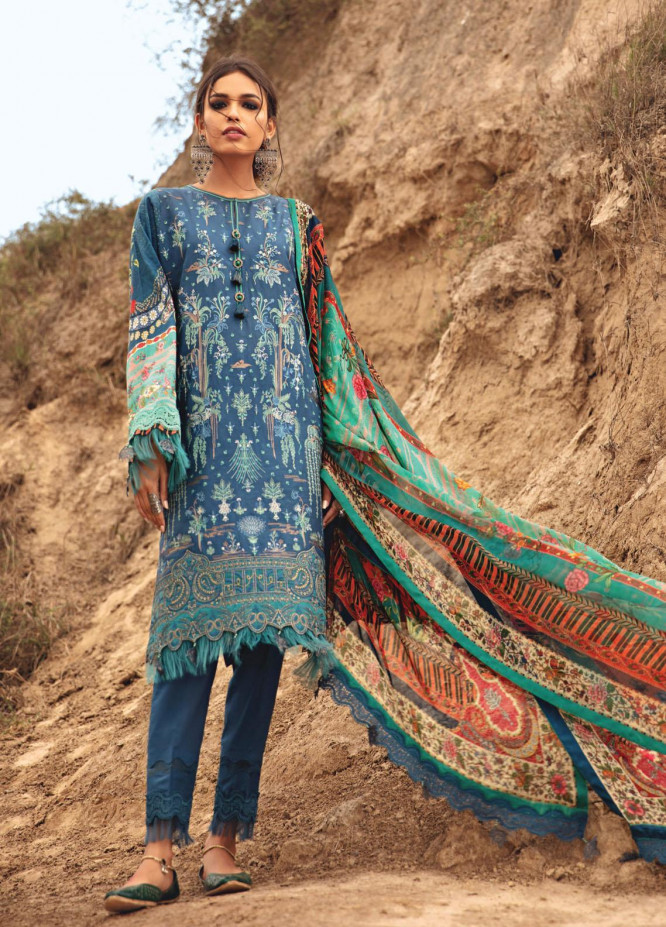 Karvaan by Jazmin Embroidered Lawn Suits Unstitched 3 Piece JZ21K 13 Bilma - Luxury Collection