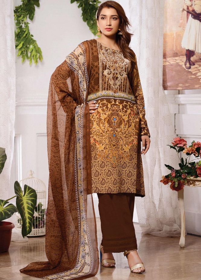 Kashish By Zebaish Embroidered Lawn Unstitched 3 Piece Suit ZSH21K 10 - Summer Collection