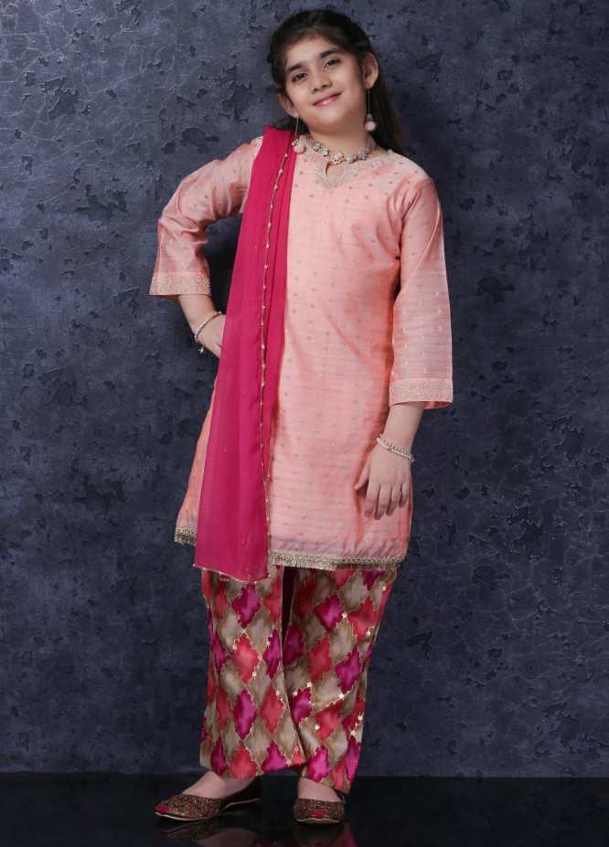 Nargis Shaheen Cotton Net Luxury 3 Piece Suit for Girls -  NSK-032