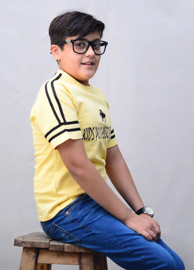 Kids Polo Cotton Casual T-Shirts for Boys -  KP20BW BJWK20201 Yellow
