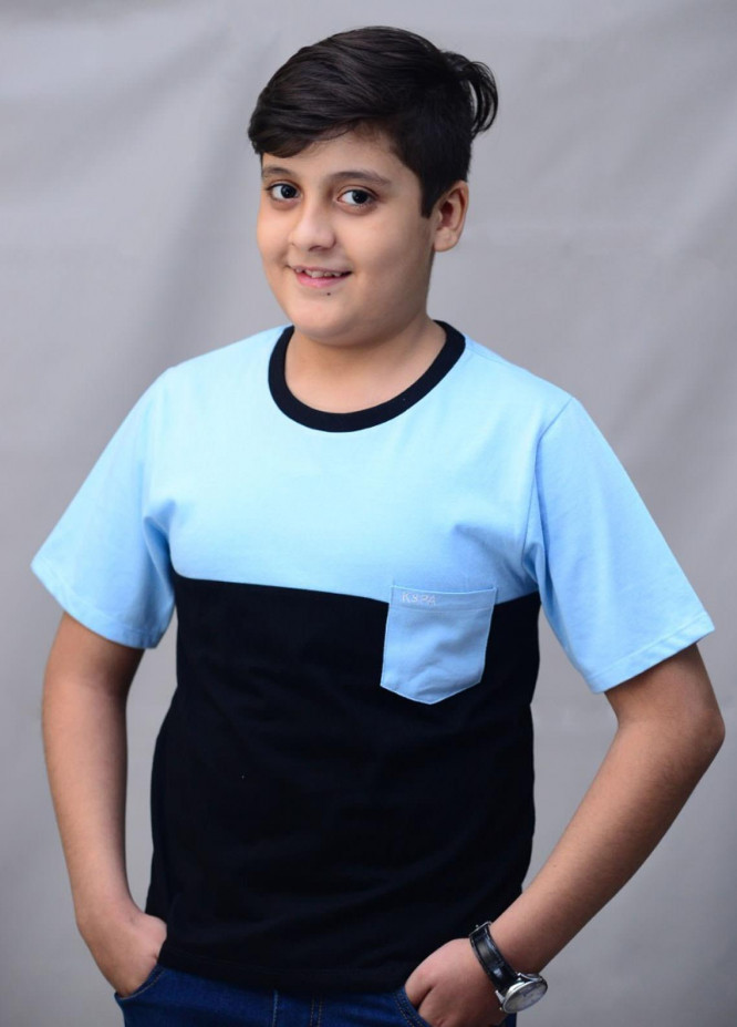 Kids Polo Cotton Casual T-Shirts for Boys -  KP20BW BJWK20204 Blue and Black
