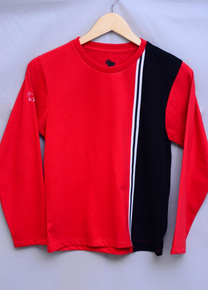 Kids Polo Cotton Casual T-Shirts for Boys -  KP20BW BJWK20206 Red and Black