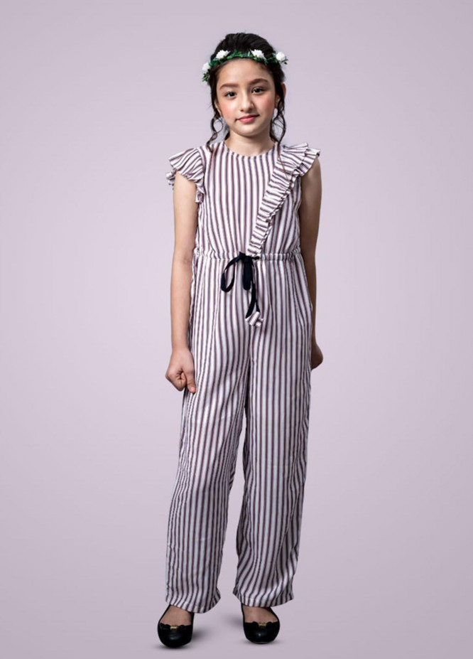 Kids Polo Crepe Casual Jump Suit for Girls -  GWSK-20203