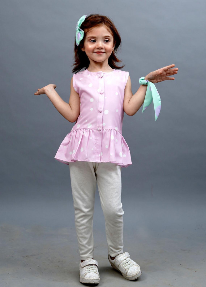 Kids Polo Cotton Silk Casual Top for Girls -  GWSK-20205