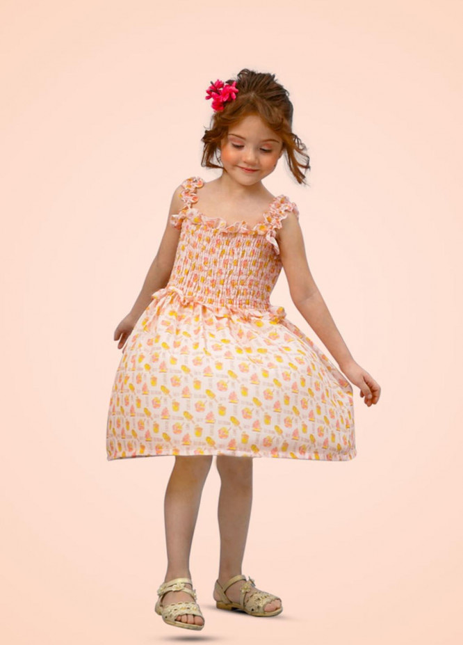 Kids Polo Cotton Casual Girls Frock -  GWSK-20206