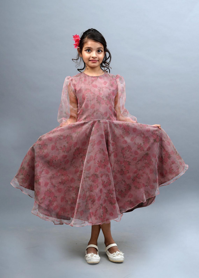Kids Polo Organza Casual Frock for Girls -  GWSK-20211