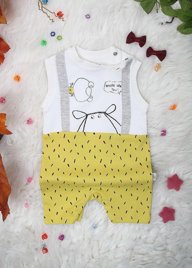 Sanaulla Exclusive Range Cotton  Kids Rompers -  2223 Yellow