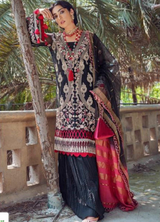 Kinaar by Shiza Hassan Embroidered Chiffon Unstitched 3 Piece Suit SH20KF 06 Naina - Festive Collection