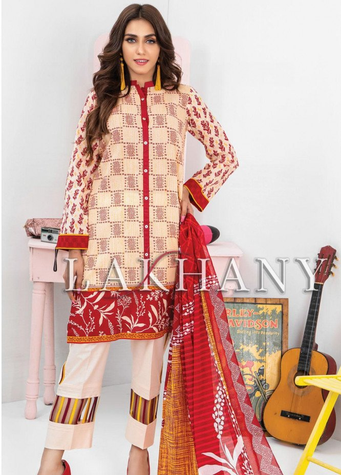 Komal by Lakhany Printed Lawn Unstitched 3 Piece Suit LSM20P KP-2039 - Spring / Summer Collection