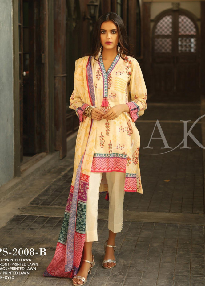 Lakhany Printed Lawn Unstitched 3 Piece Suit KL20LSM 16 - Spring / Summer Collection