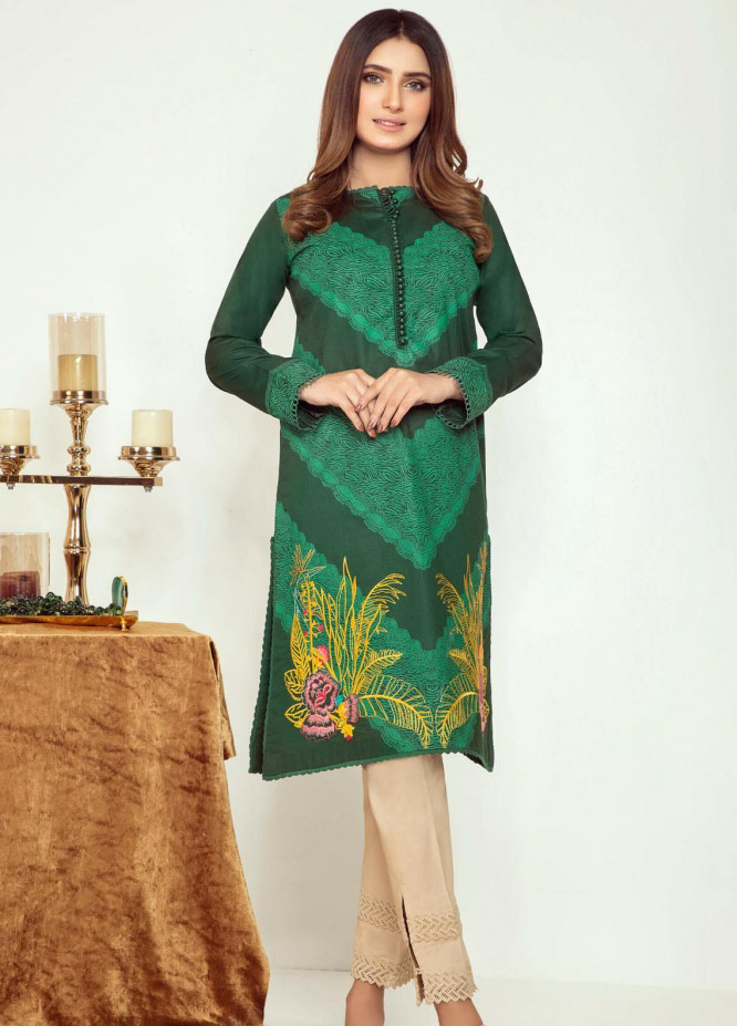 Kross Kulture Embroidered Cambric Stitched Kurtis KK21C KB-20745 DGR