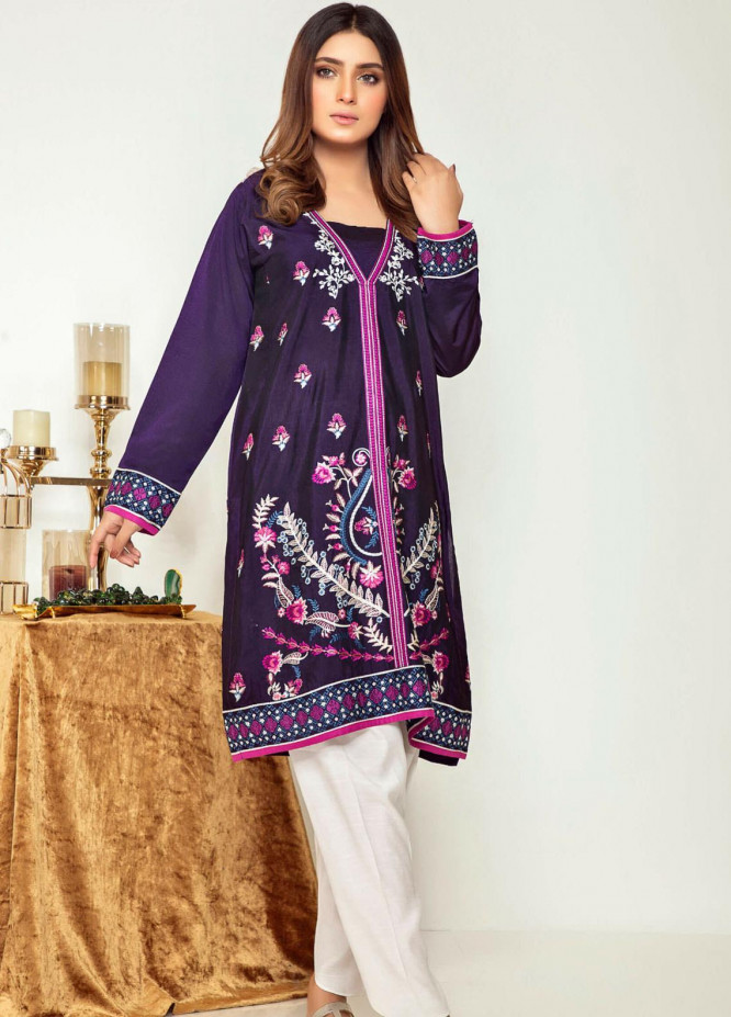 Kross Kulture Embroidered Cotton Silk Stitched Kurtis KK21C KK-20661 PER
