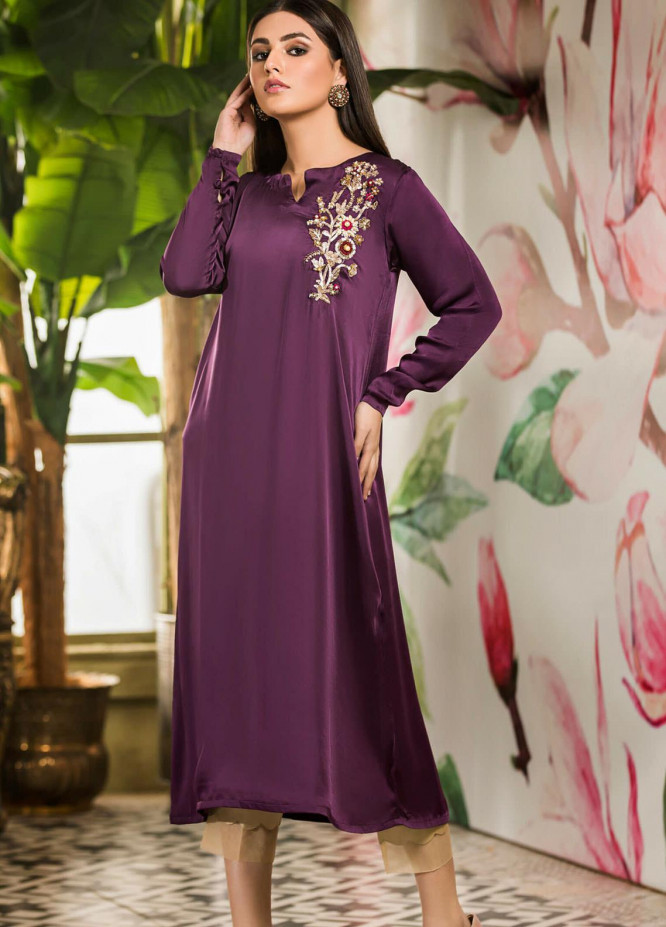Kross Kulture Embroidered Silk Stitched Kurtis KK21C KX-20678 Purple