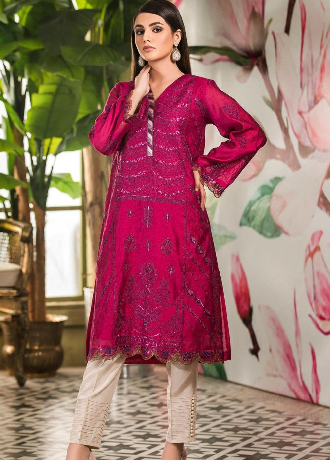 Kross Kulture Embroidered Cotton Net Stitched Kurtis KK21C KX-20737 Majenda