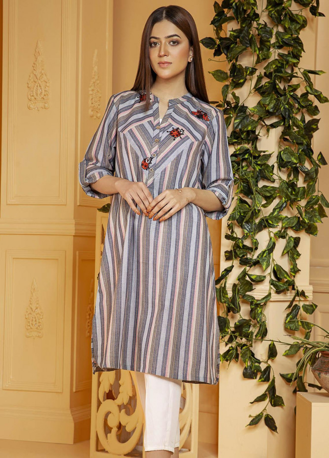 Kross Kulture Embroidered Cotton Stitched Kurtis KB-21084