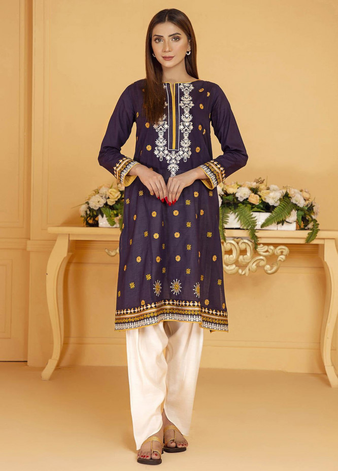 Kross Kulture Embroidered Lawn Stitched Kurtis KE-21143 Navy