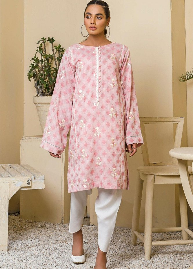 Kross Kulture Casual Pret Embroidered Cotton Shirt KB-21145 Pink