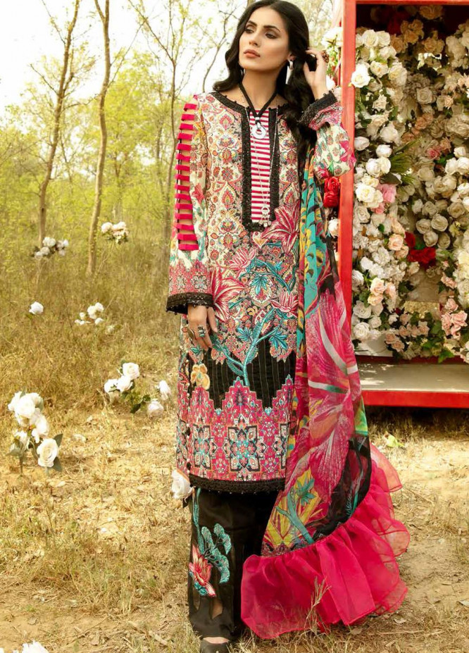 La Rose By Adan's Libas Embroidered Lawn Suits Unstitched 3 Piece AL21LR 02 Leilani - Summer Collection