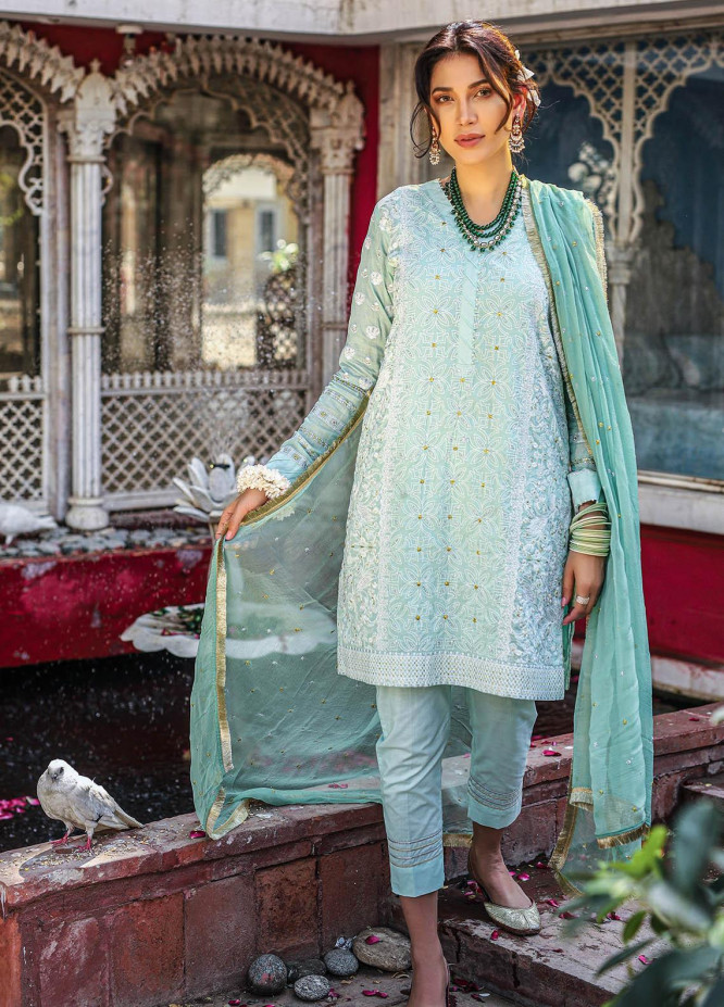 Lakhany Embroidered Chikankari Suits Unstitched 3 Piece LSM21CK 9011 - Summer Collection