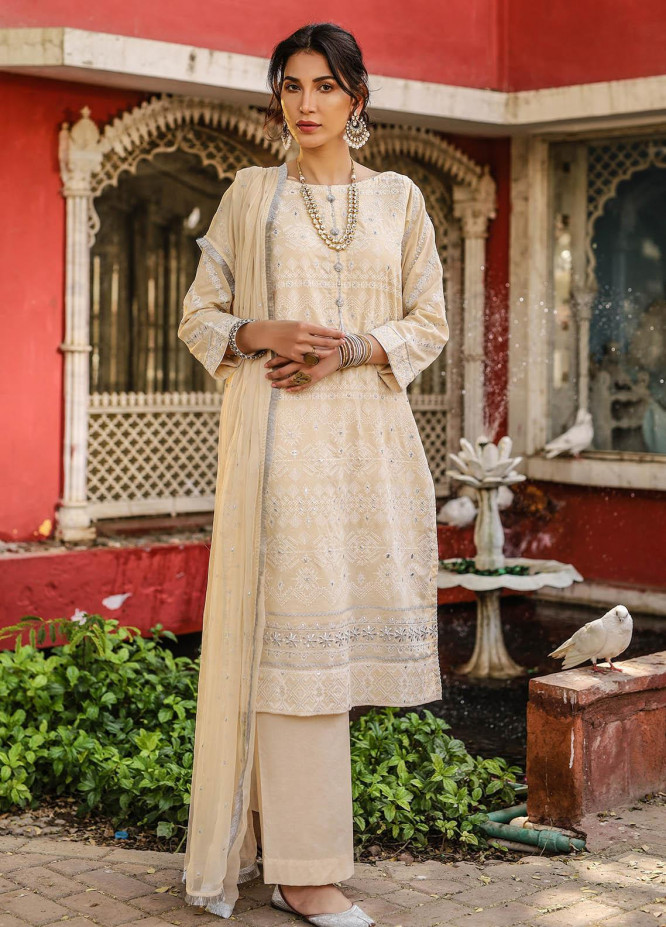 Lakhany Embroidered Chikankari Suits Unstitched 3 Piece LSM21CK 9014 - Summer Collection