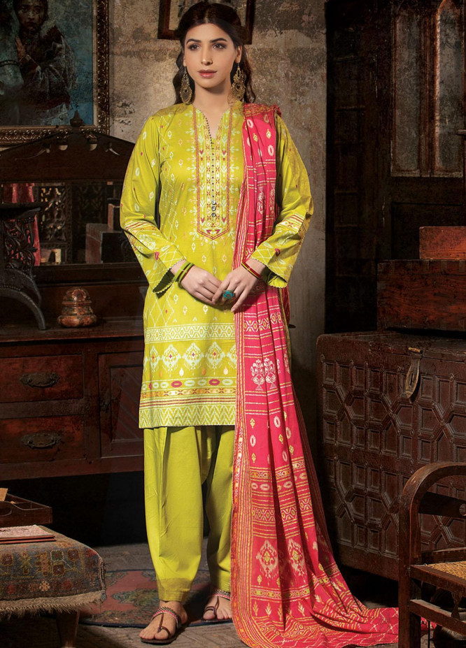 Dareechay By Lakhany Printed Lawn Suits Unstitched 3 Piece LSM21D 3010 - Summer Collection
