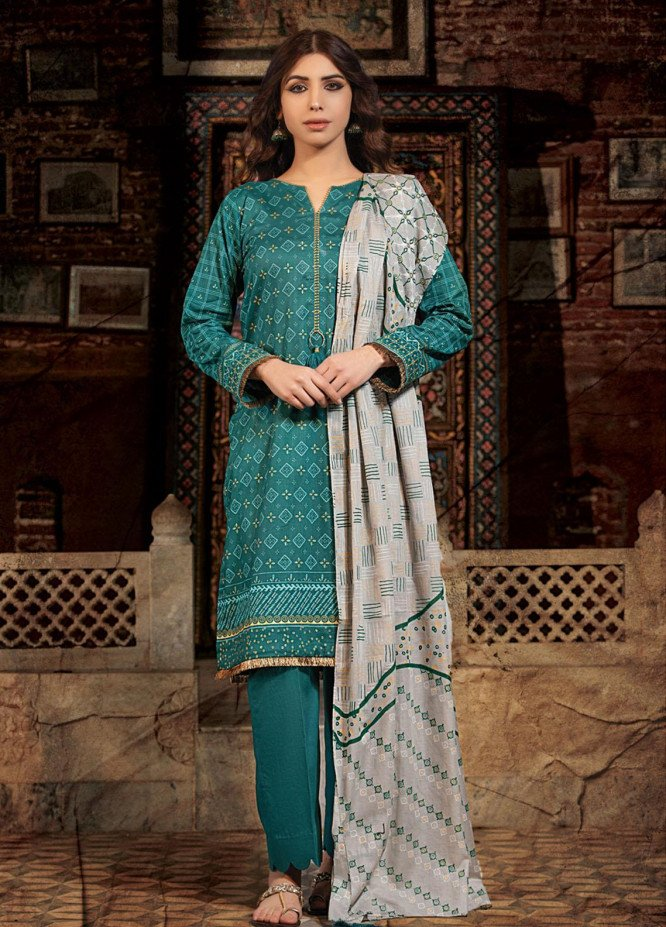 Dareechay By Lakhany Printed Lawn Suits Unstitched 3 Piece LSM21D 3013 - Summer Collection